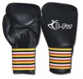 Black Leather Boxing Gloves King Size Cuff Closure