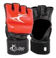 Two Tone Leather Pro MMA Grappling Gloves