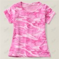 Ladies Short Sleeve Pink Camo T-Shirt