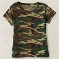 Ladies Short Sleeve Green Camo T-Shirt